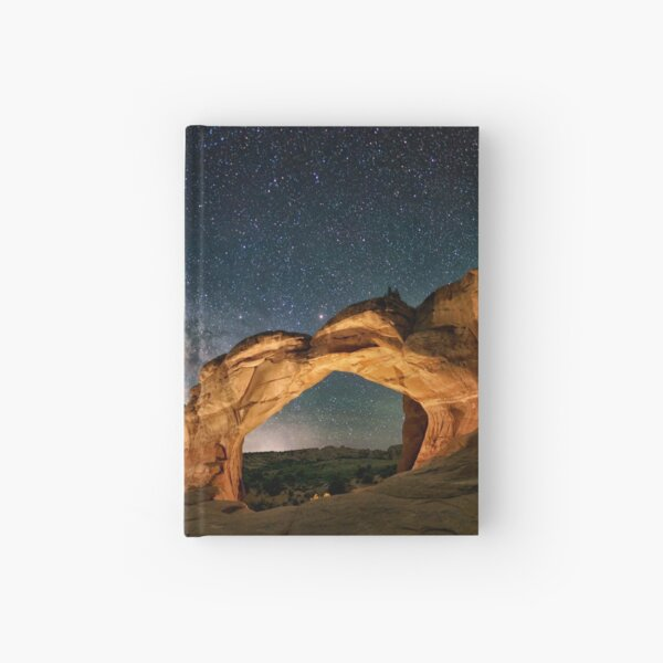 Broken Arch With The Rising Milky Way by OLena Art  Hardcover Journal