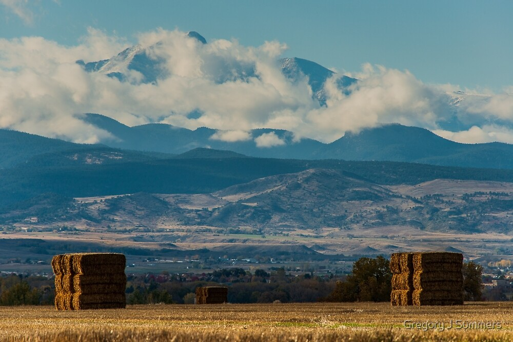 Longs Peak Above The Clouds by Gregory J Summers