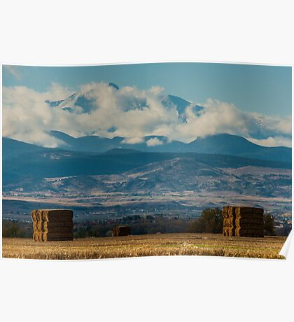 Longs Peak Above The Clouds Poster
