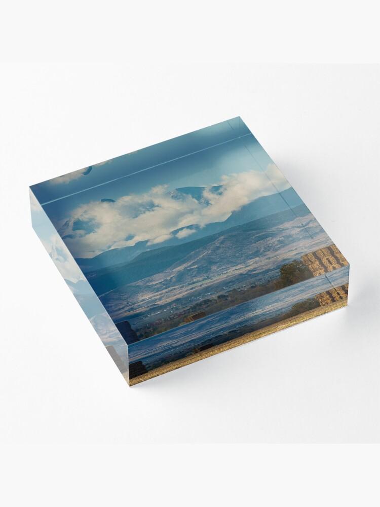 Alternate view of Longs Peak Above The Clouds Acrylic Block