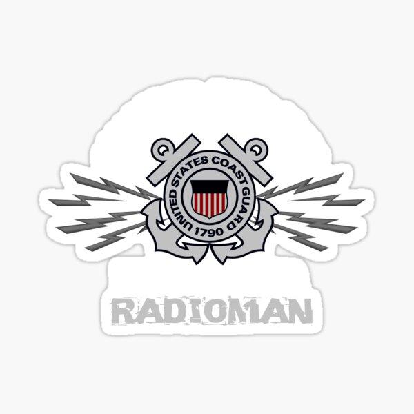 Coast Guard Radioman Design by MbrancoDesigns Sticker
