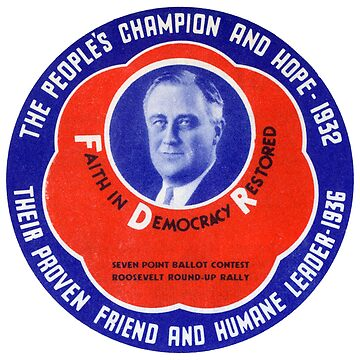 1936 People's Champion Franklin D Roosevelt by historicimage
