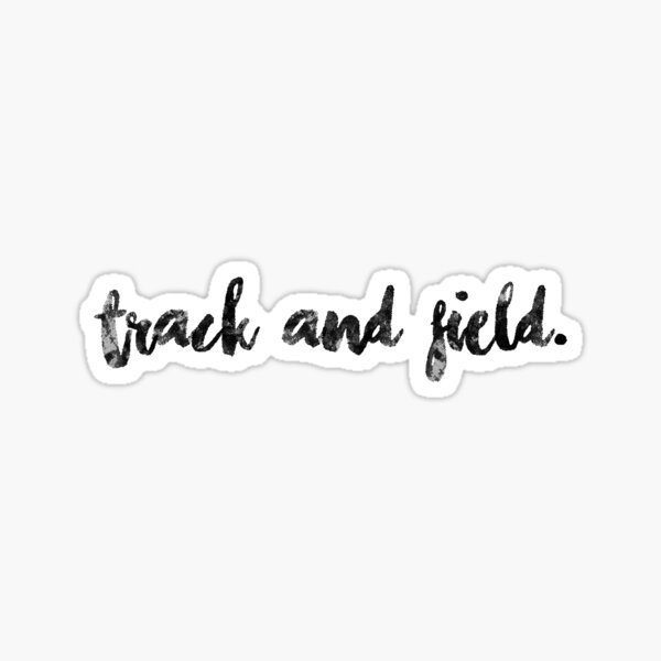 track and field. Sticker