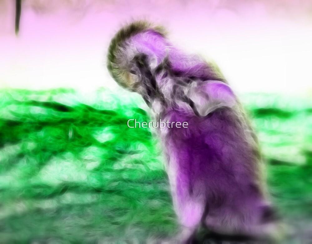 My Purple Penguin: by Cherubtree