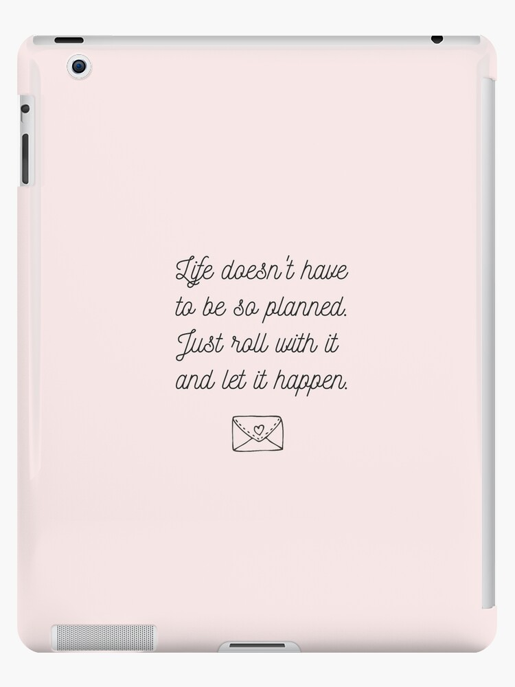 To All The Boys Ive Loved Before Quote Ipad Cases Skins By