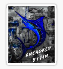Anchored by fin  Sticker