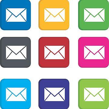 colorful mail shape by asepsarifudin09