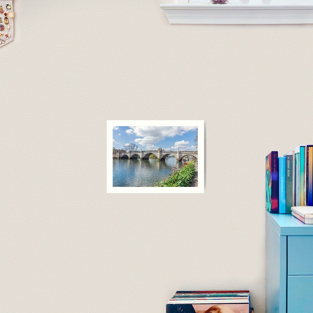 Richmond Bridge view, London Art Print