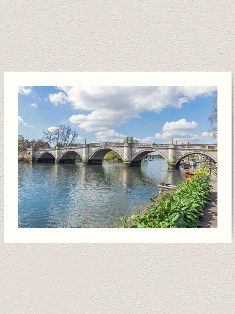 Alternate view of Richmond Bridge view, London Art Print