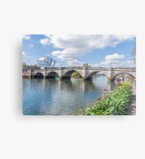 Richmond Bridge view, London Metal Print