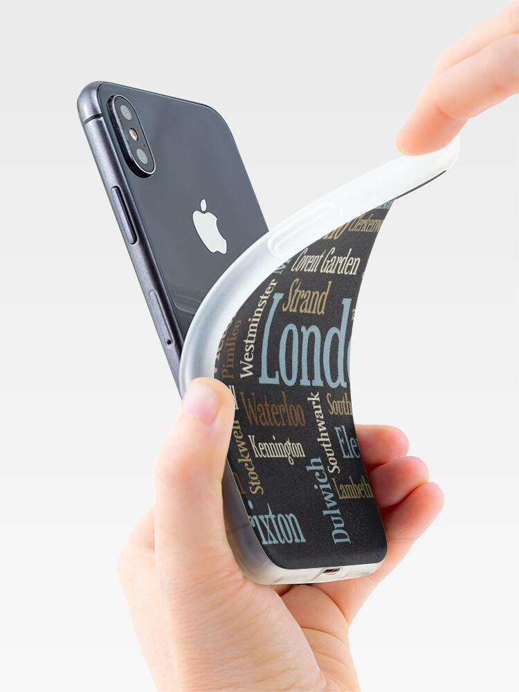 Alternative Ansicht von London Text typografische Karte iPhone-Hülle & Cover