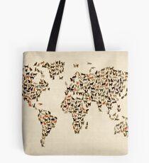 Bolsa de tela Mapa de gatos del mapa mundial