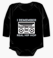 94ea55083a3ef Body de manga larga Recuerdo el verdadero hip hop
