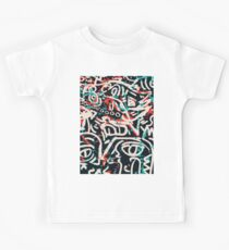 Street Art Graffiti Muster Tinte und Posca Kinder T-Shirt