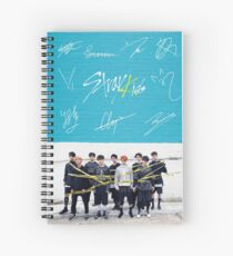 Stray Kids Signatures Spiral Notebook