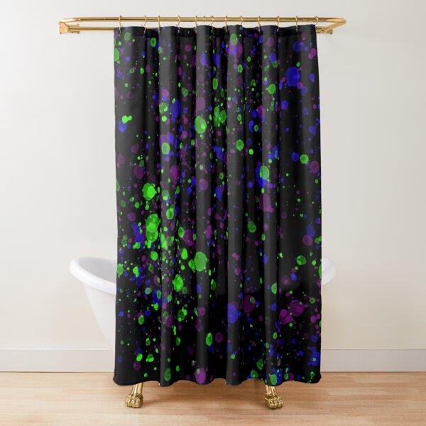 Neon Splash Shower Curtain