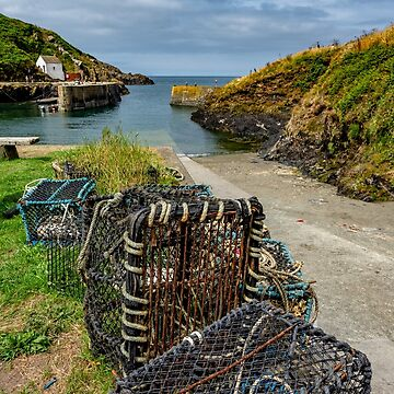 Porthgain Harbour Lobster Pots by mlphoto