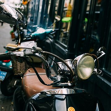 Vespa In The Street by PatiDesigns