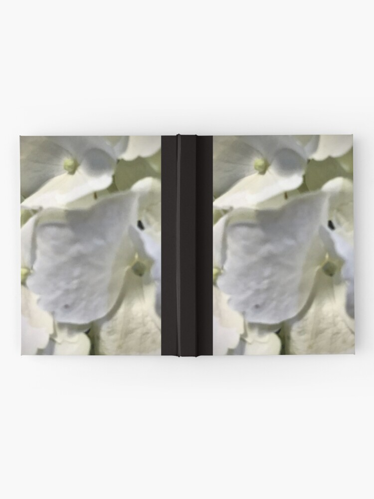 Alternate view of White Hydrangea Hardcover Journal