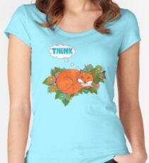 Think Outside the Fox Women's Fitted Scoop T-Shirt