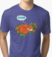 Think Outside the Fox Tri-blend T-Shirt