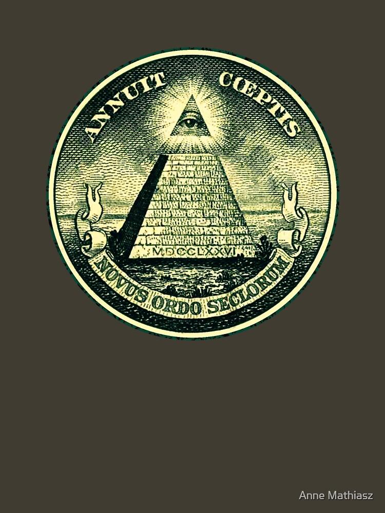 All seeing eye, pyramid, dollar, freemason, god by nitty-gritty