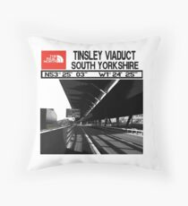 The Real North-Tinsley Viaduct South Yorkshire  Throw Pillow