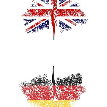 English born, German roots ancestry design by jhussar