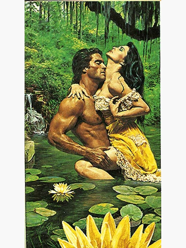 Old School Romance Novel Cover Or Stepback Poster