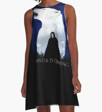 the wolf in the snow A-Line Dress