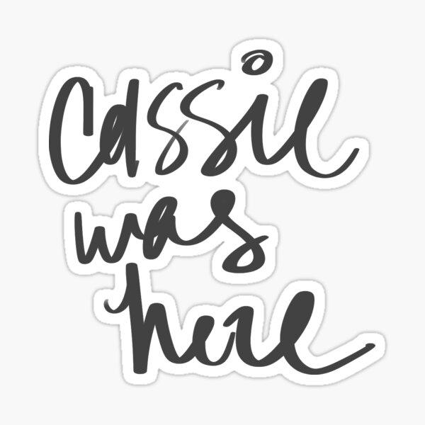 Cassie Sticker