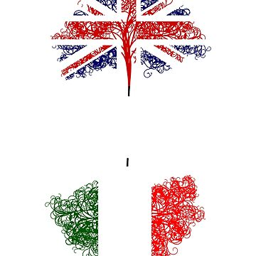 English born, Italian roots heritage design  by jhussar