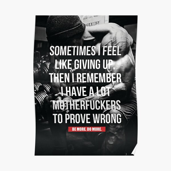 Bodybuilding Inspirational Workout Quote Poster