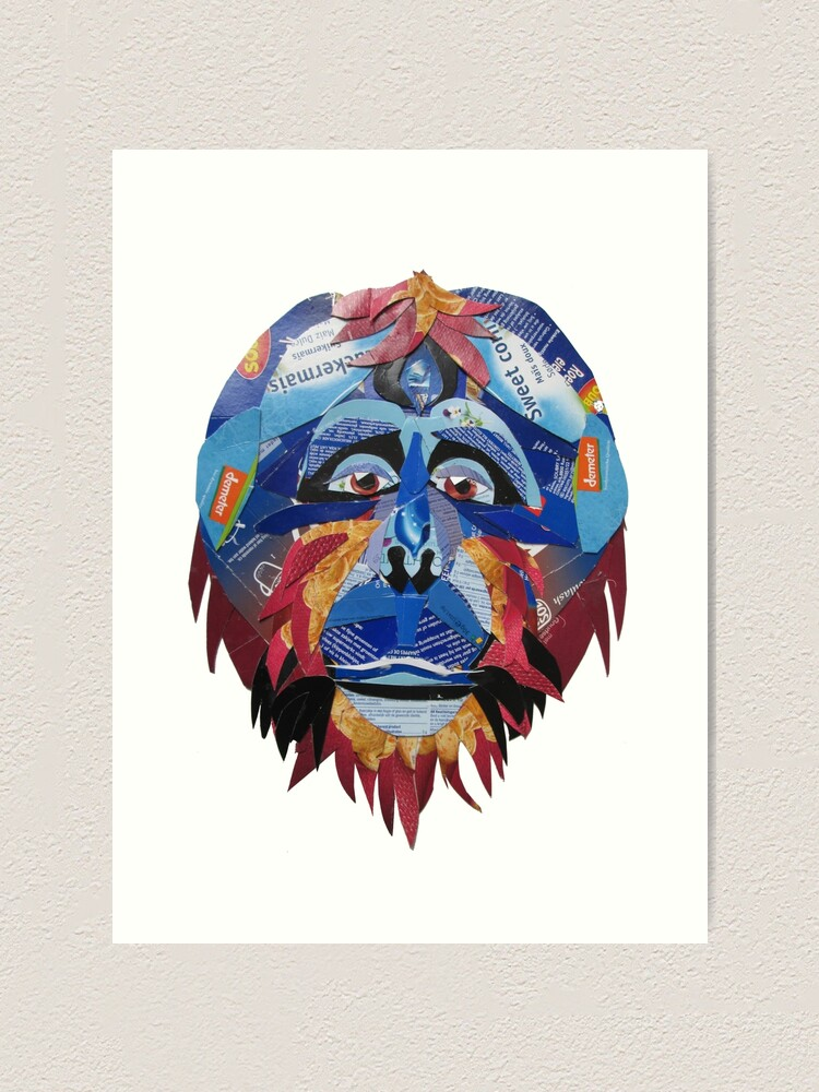 Alternate view of Sad Orangutan Art Print