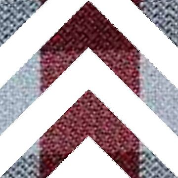 White Chevron | Maroon and Grey Plaid by CollegeTown