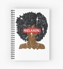 Melanin Distressed Afro Spiral Notebook