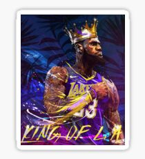 Lebron at the Lakers Sticker