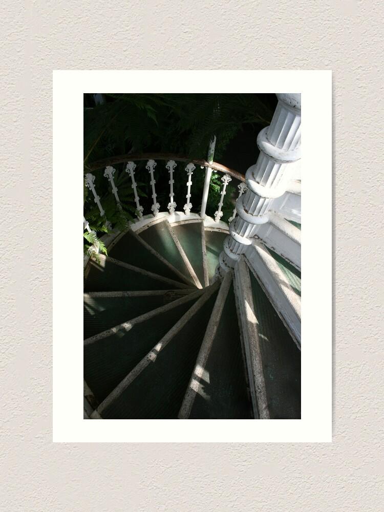 Alternate view of Victorian Stairway Art Print