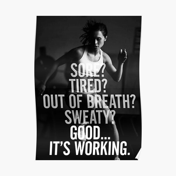 Women's Fitness Inspirational Quote Poster
