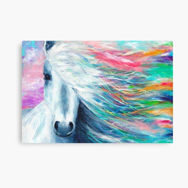 Rainbow Horse Lienzo