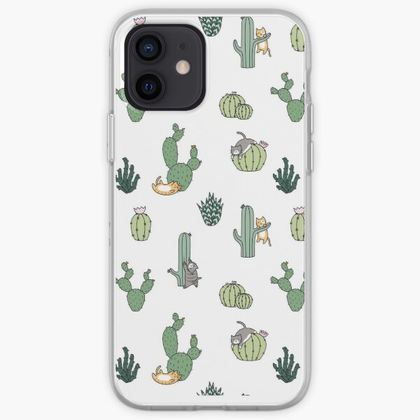 Cacti Cats iPhone Soft Case