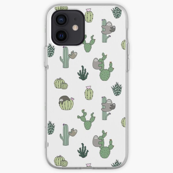 Cacti Sloths iPhone Soft Case