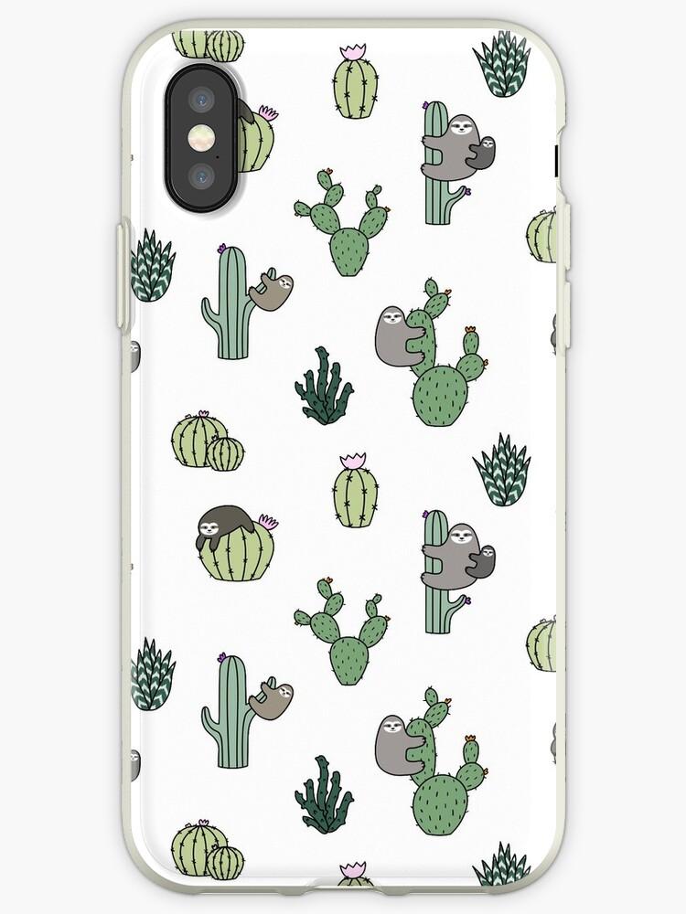 quality design 6dc44 db692 'Cacti Sloths' iPhone Case by Shopzoki