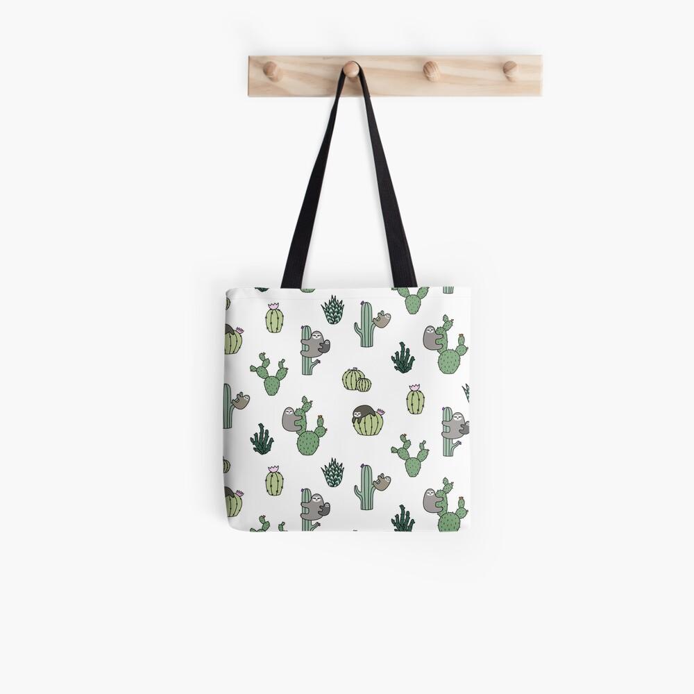 Cacti Sloths Tote Bag
