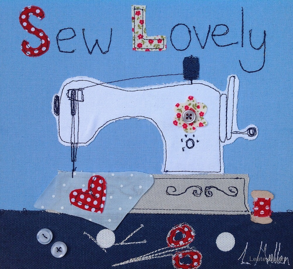 Sew Lovely sewing machine by Leatextileart