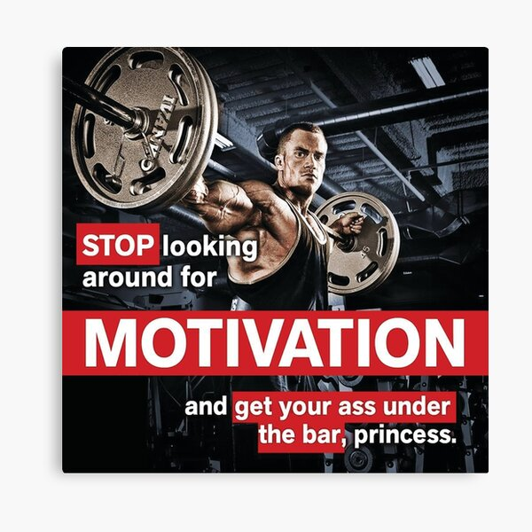 Gym Quotes Canvas Prints Redbubble
