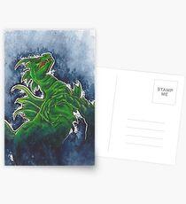 Mixed Media Seahorse Postcards