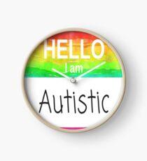 Hello I Am Autistic Design  Clock