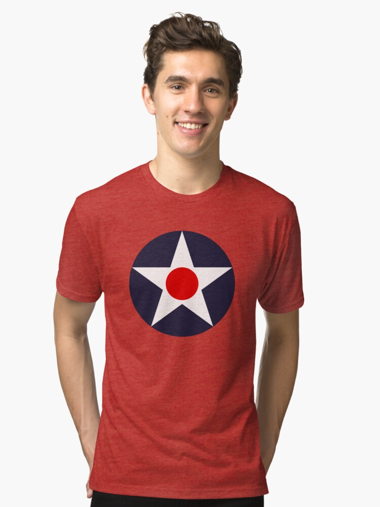 USAAC Historical Roundel 1919-1941 Tri-blend T-Shirt Front