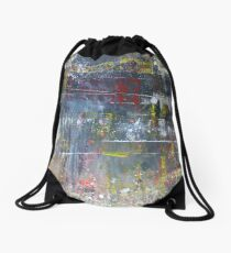 What are you doing here, We weren't expecting you tonight Abstract Drawstring Bag